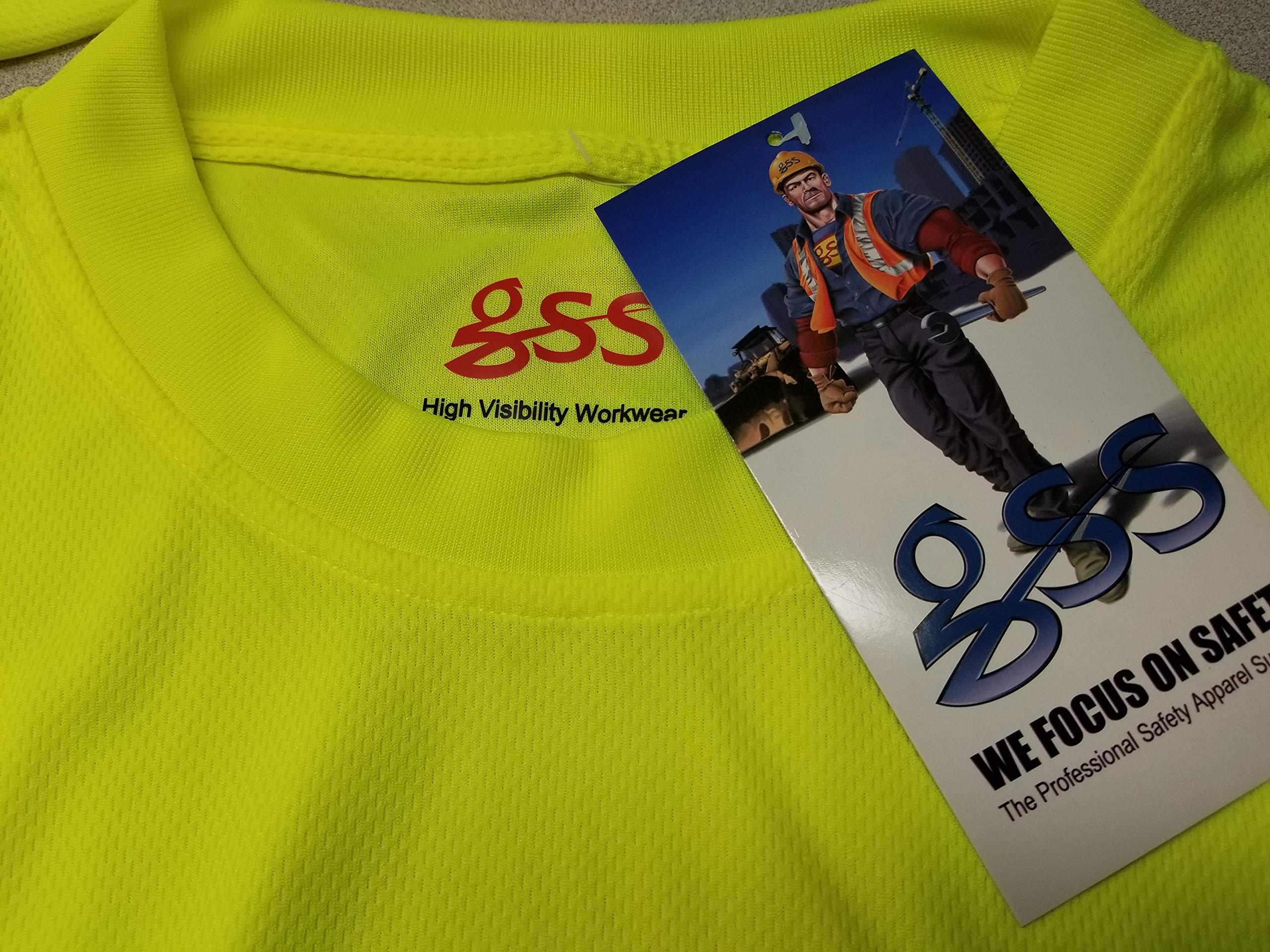 5 PACK Class 3 Long Sleeve Black Bottom T-Shirt (XXL) by GSS SAFETY (Image #3)