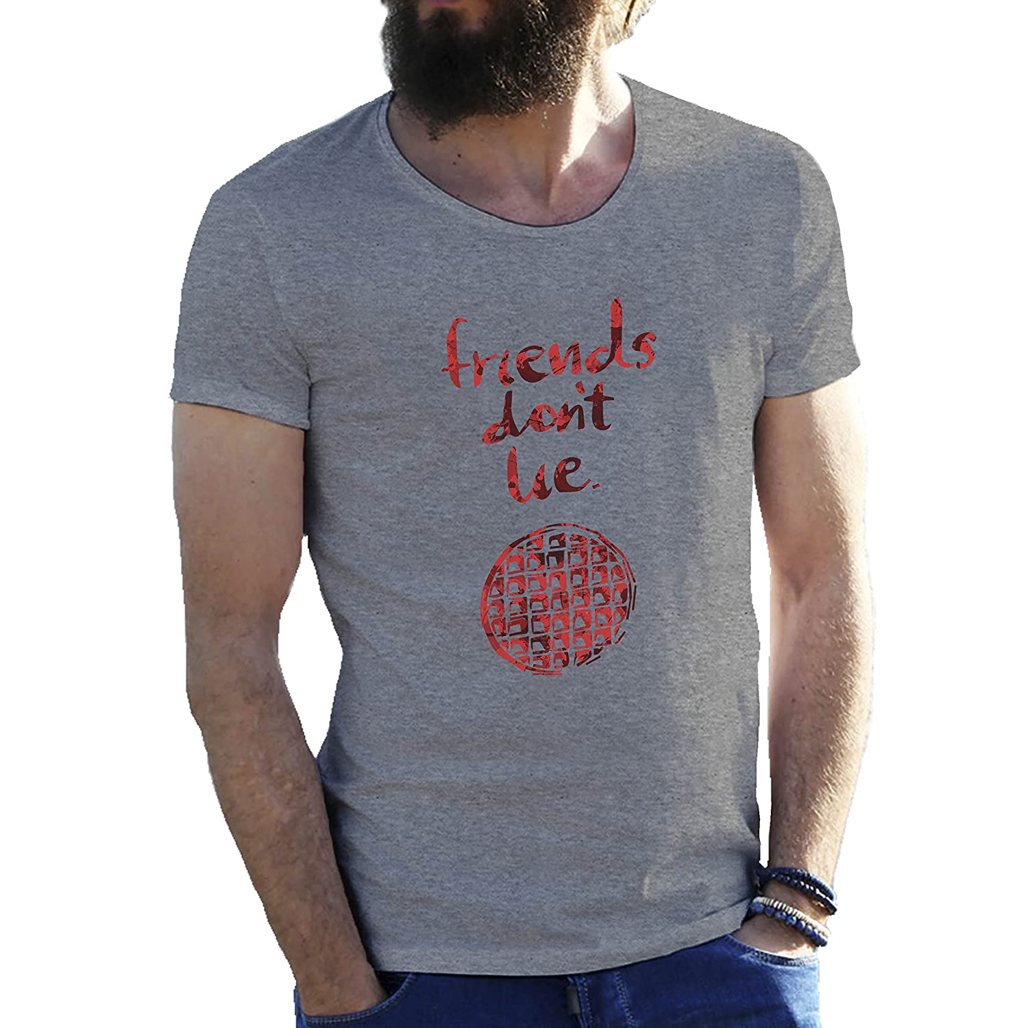 Amazon.com: Friends Dont Lie by Stranger Things Mens T-Shirt in Extra Large Sizes: Clothing