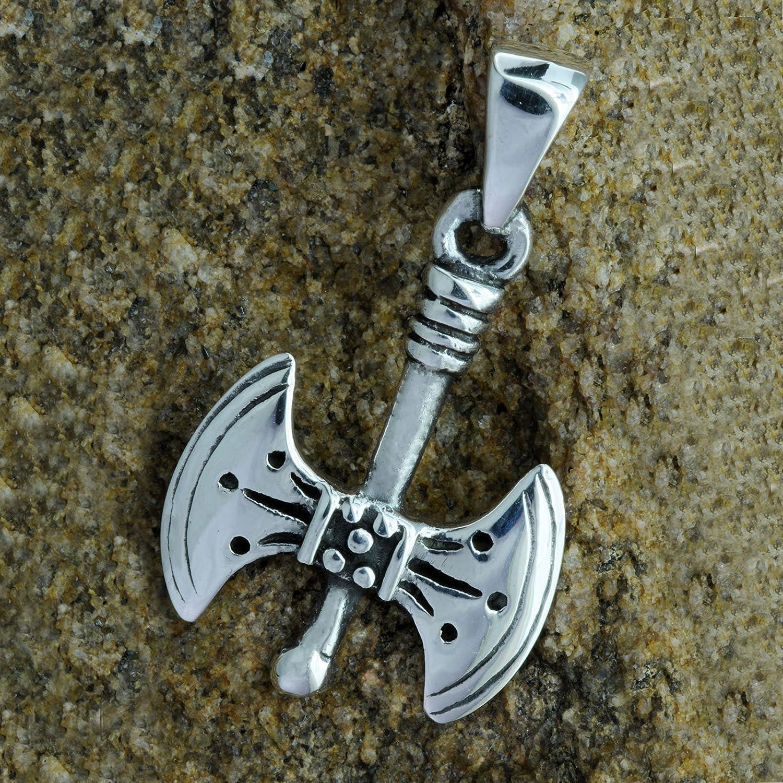 Hache Viking Pendentif 3d Argent sterling 925/poin/çonn/é Beldiamo