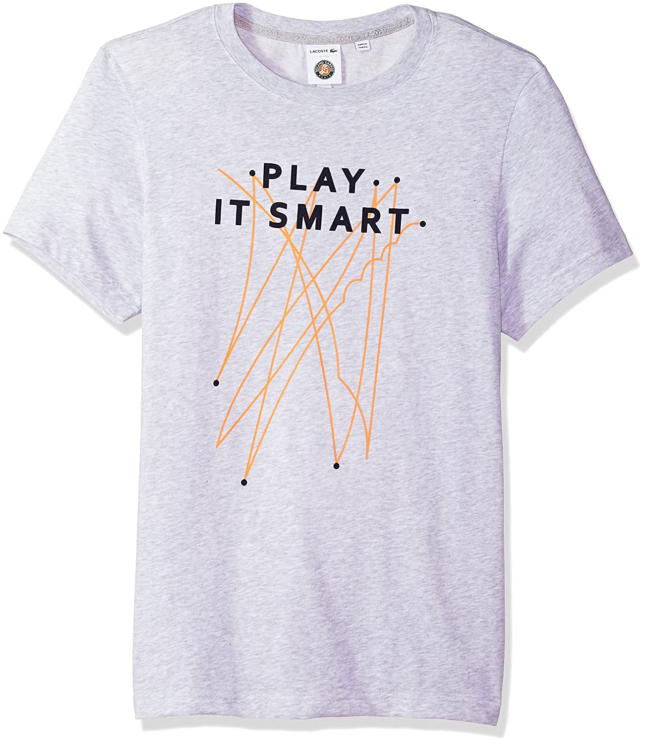 Lacoste Mens Short Sleeve Jersey Tech with Play It Smart Graphic T-Shirt TH3352