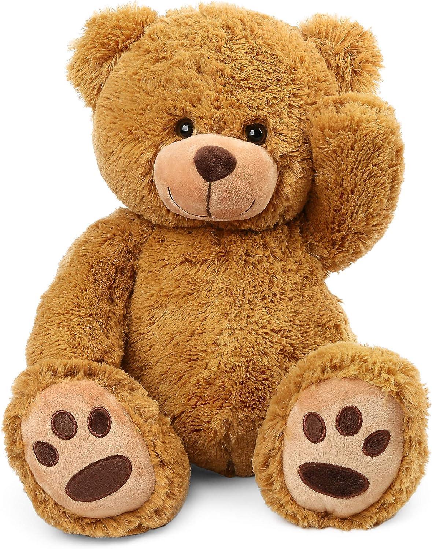 Toddler toys animal bear Cotton handmade teaching toy Baby rooms decor. Stuffed toy sad Teddy bear for baby