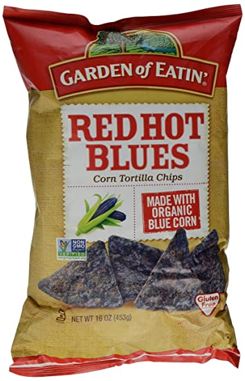 Amazoncom Garden of Eatin Tortilla Chips Red Hot Blues 16 Ounce