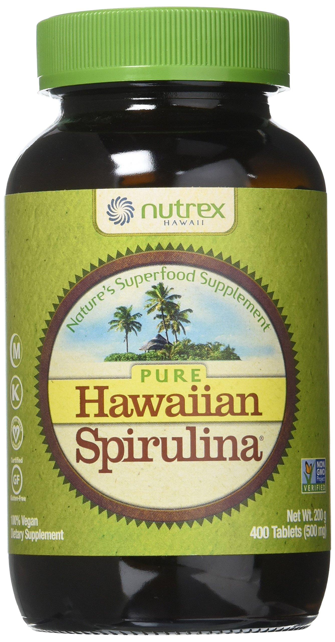 Nutrex Hawaii Pure Hawaiian Spirulina Pacifica - 500 mg - 400 Tablets (Pack of