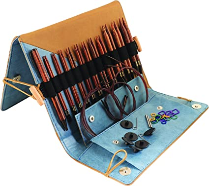 11 Pairs KnitPro Ginger Interchangable Circular Knitting Pins Deluxe Set