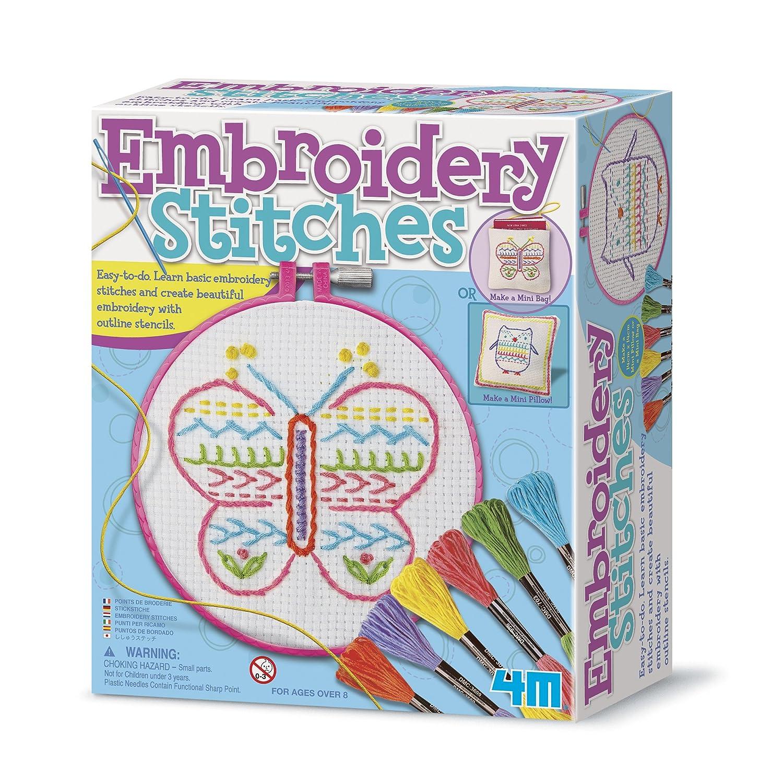 Amazon 4M Embroidery Stitches Kit Toys Games