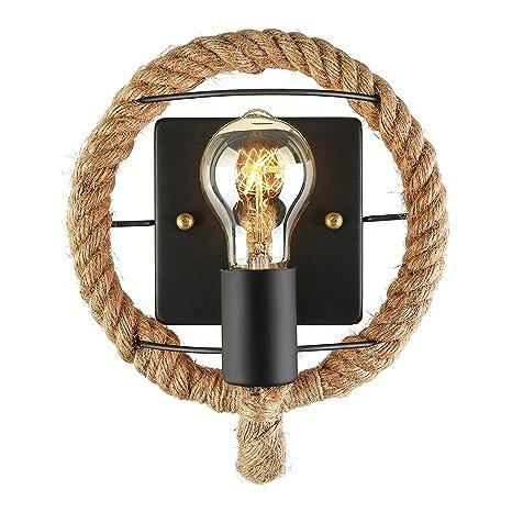 Amazon.com: jinguo iluminación pared de metal Wave cuerda ...