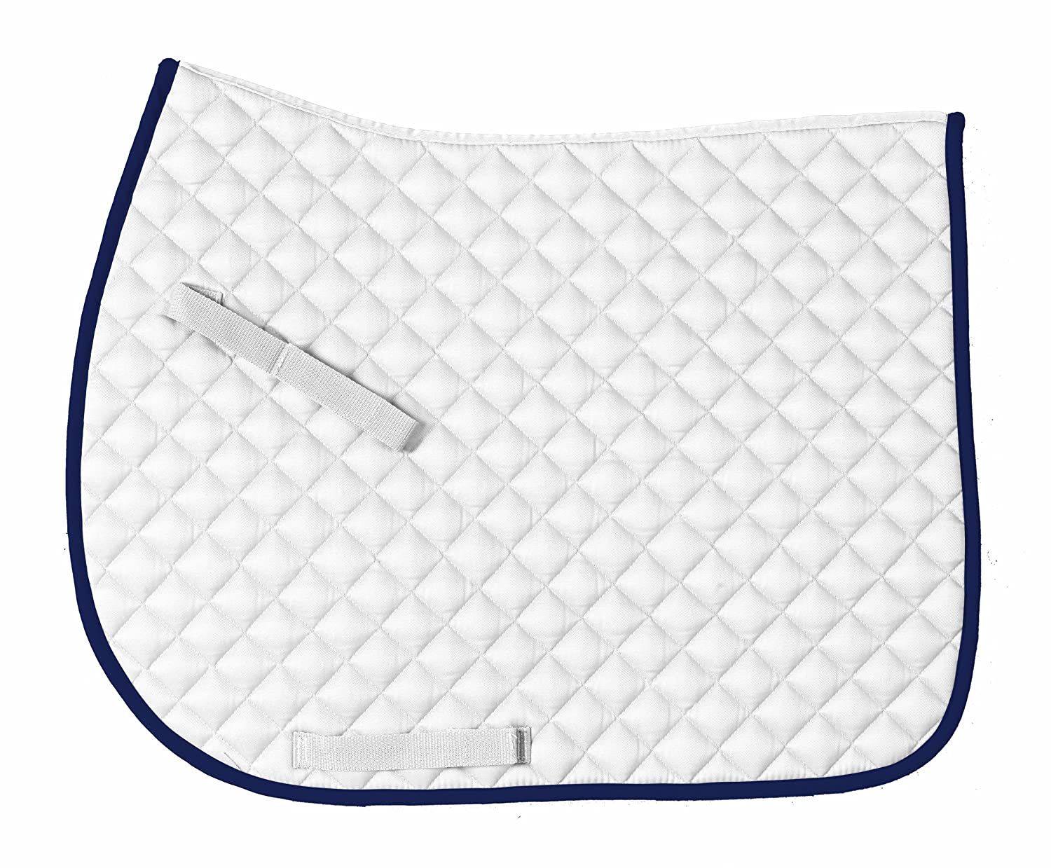 Centaur- Imperial All Purpose Saddle Pad  Size  All-Purpose;color  White Navy