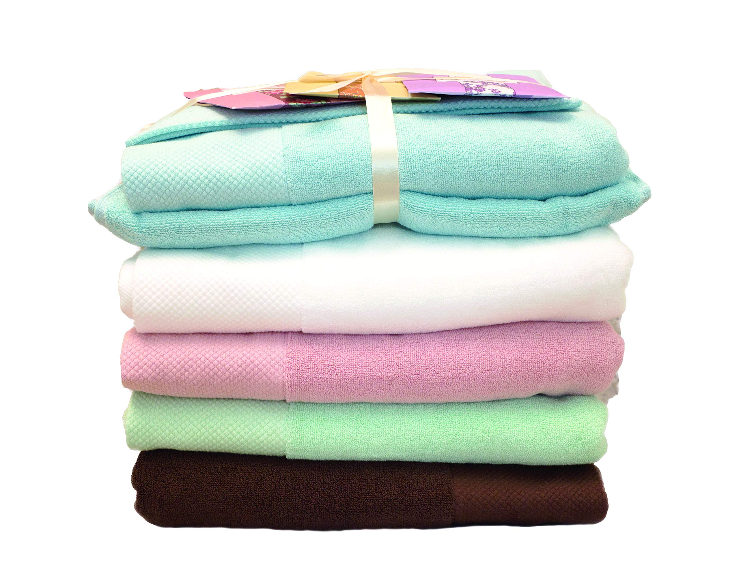 100% Organic Egyptian Cotton Bath Towel Set |Luxury Spa-Hotel Grade Face/Body/Hand Elegant Durable Quality Highly Absorbent, Premium Bath Linen | Stylish Oversized Eco-Friendly for Gift, White Towel