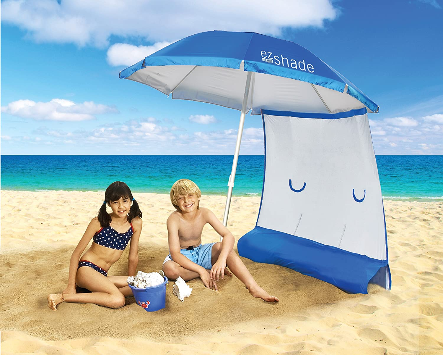 SUPERIOR SUN PROTECTION: Ultra LIGHTWEIGHT 7' Beach Umbrella & Sunshield - Blocks 99% UVA/UVB, DOUBLES Your Shade and Keeps You COOLER! 141[並行輸入]   B00S40SCXU
