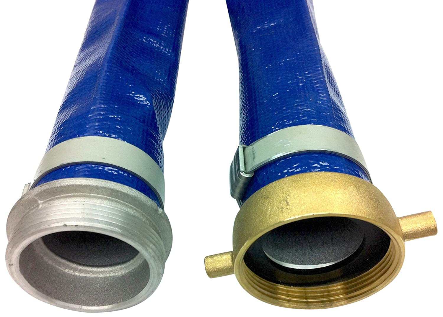 Unisource 200 Blue PVC Discharge Hose Coupled Assembly, MPT x NPSM Female Swivel Couplings