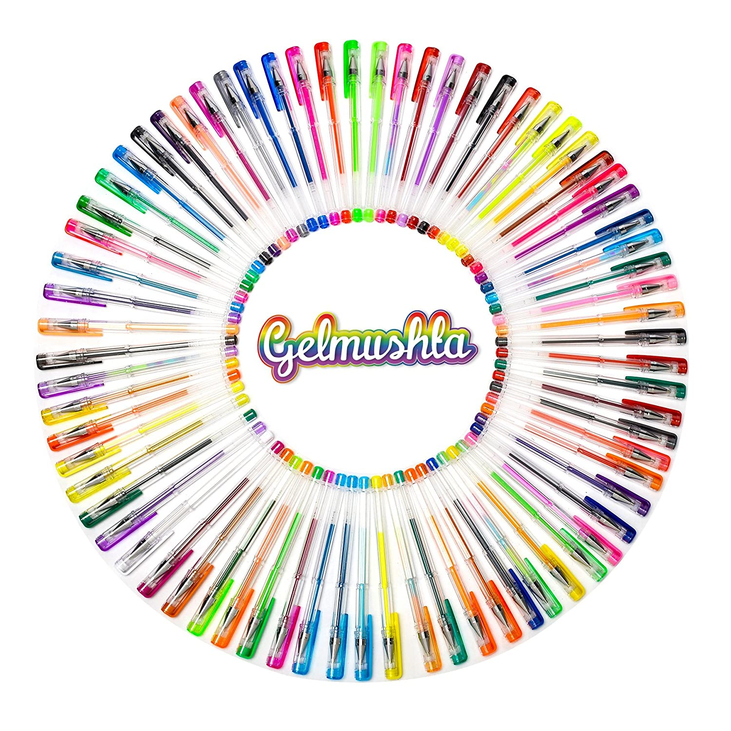 Amazon Gelmushta Gel Pens 120 Unique Colors No Duplicates Set For Adult Coloring Books Drawing With Case Office Products