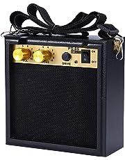 Asmuse™ 5W Mini Amplificador Combo para guitarras Bajo Eléctrico Instrumentos Amp con efecto de overdrive y Batería Recargable 9V