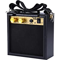 Asmuse Amplificateur pour Mini Guitare Electrique 5W Amplificateur de Poche avec Pile rechargeable 9V