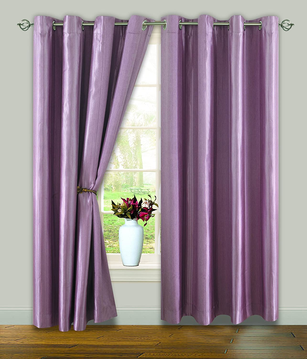 Lilac Blackout Eyelet Curtains