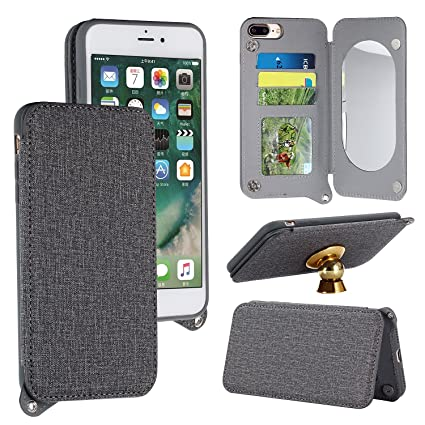 iphone 8 flip case grey