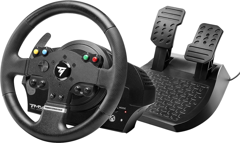 Thrustmaster TMX Force Feedback - Volante realista de carreras con pedales grandes para XboxOne/PC, 28 cm de diámetro, con Licencia Oficial Xbox One