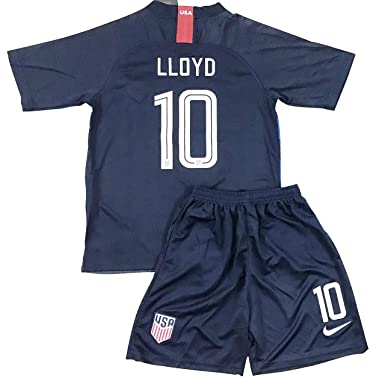 7a5427d47fb New 2018-2019 Carli Lloyd #10 USA National Team Away Soccer Jersey & Shorts