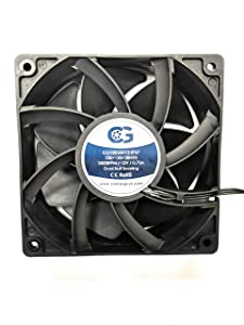 Coolerguys 120mm (120X120X38) High Airflow Waterproof IP67 12v Fan