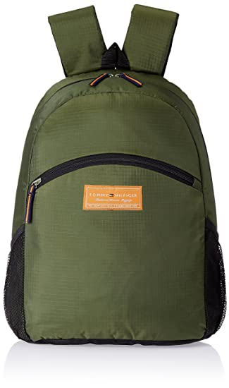 2b33ddc9e27 Tommy Hilfiger Polyester Olive Laptop Bag (TH/STPPL16LAPH): Amazon.in: Bags,  Wallets & Luggage