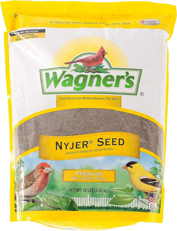 Wagner's 62050 Nyjer Seed Wild Bird Food, 10-Pound Bag : Wild Bird Birdseed : Garden & Outdoor