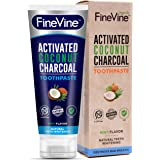 Charcoal Teeth Whitening Toothpaste - Made in USA - REMOVES BAD BREATH and TOOTH STAINS - Best Natural Tooth Whitener Product- Mint flavor (Toothpaste)