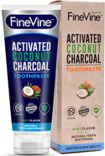 product image for 100% Natural Charcoal Teeth Whitening Toothpaste| Charcoal Toothpaste Made in USA| Acti-vated Charcoal Toothpaste for Healthy Gums & Pearly Whites| Organic Vegan Coconut Char-coal Toothpaste Whitening
