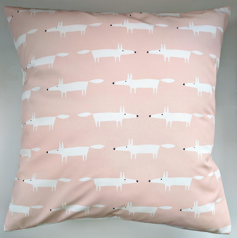 Cushion Cover in Scion Mini Mr Fox Blush Pink 16