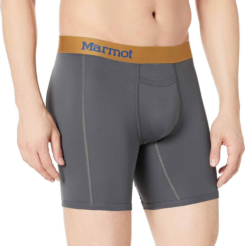 M MARMOT Mens Performance Boxer Black
