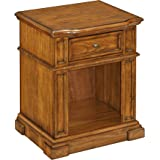 Home Styles 5004-42 One Drawer Americana Night Stand, Distressed Oak