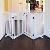 Amazon Com Foldable Free Standing Wooden Pet Gate