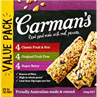 Carman's Muesli Bar Variety Pack, 12-pack (540g total)