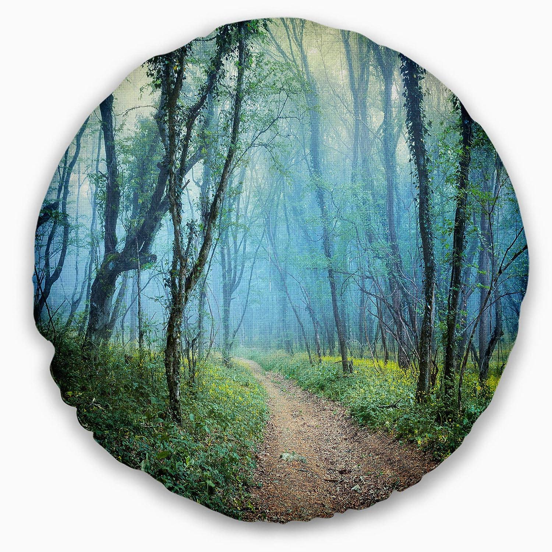 Designart CU9778-20-20-C Crimea Forest in Summer Landscape Photo Round Throw Pillow 20