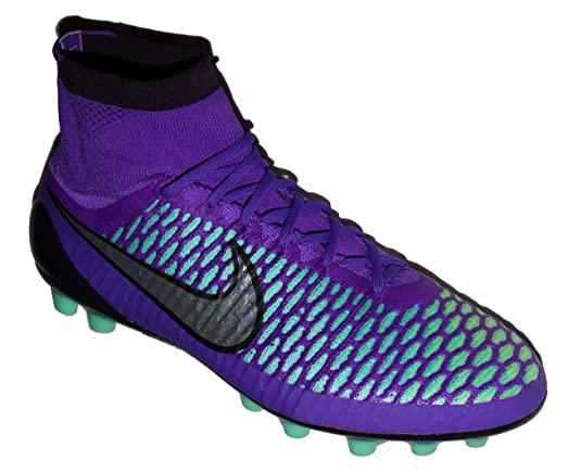 Nike Men's Magista Obra AG-R Soccer Cleats Grape/Teal/Volt - 10.5
