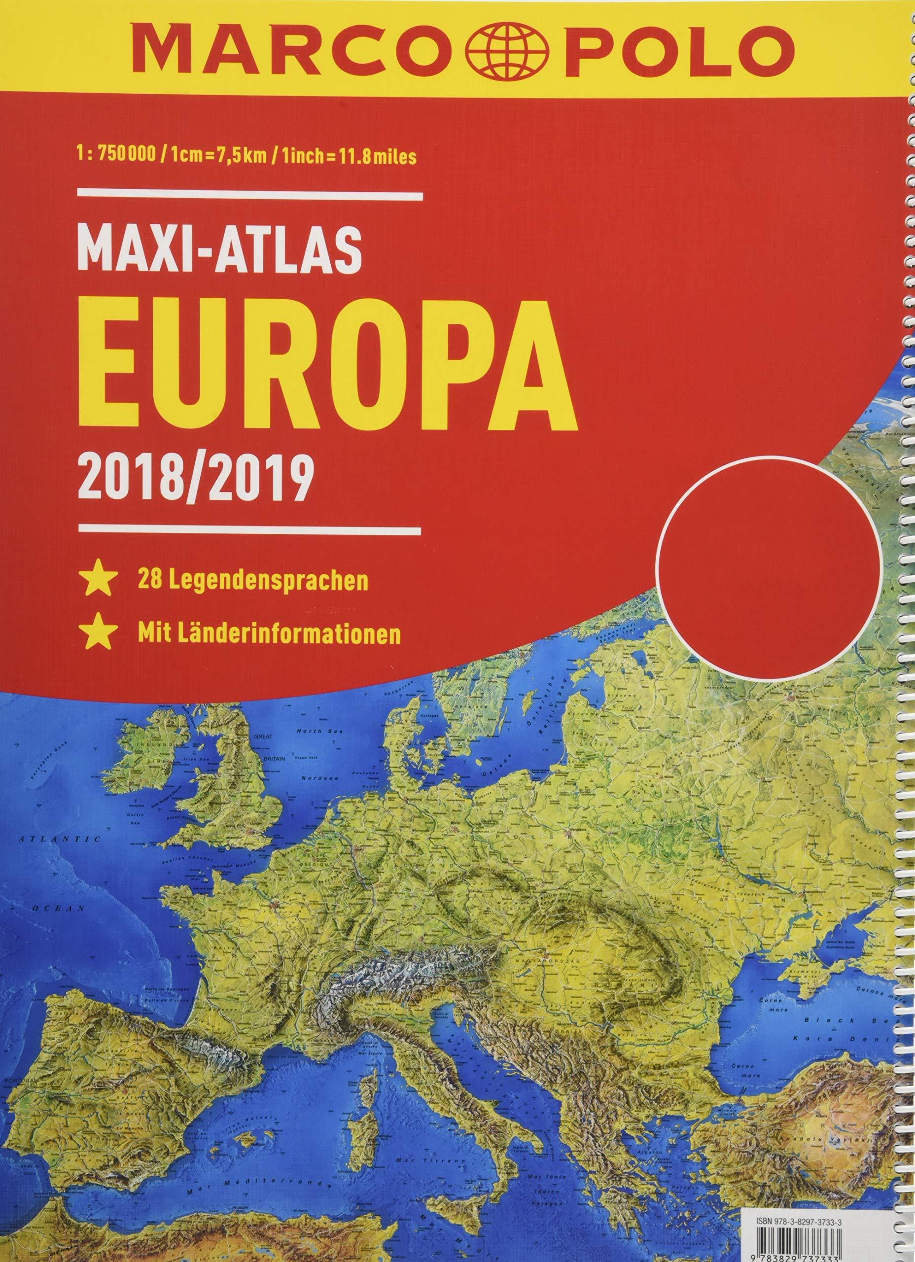 MARCO POLO Maxi-Atlas Europa 2018/2019: Amazon.es: Libros en idiomas extranjeros