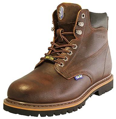 d8cb79b38e41 Cactus Men s 627S DK. BROWN Leather Work Boots Size 5