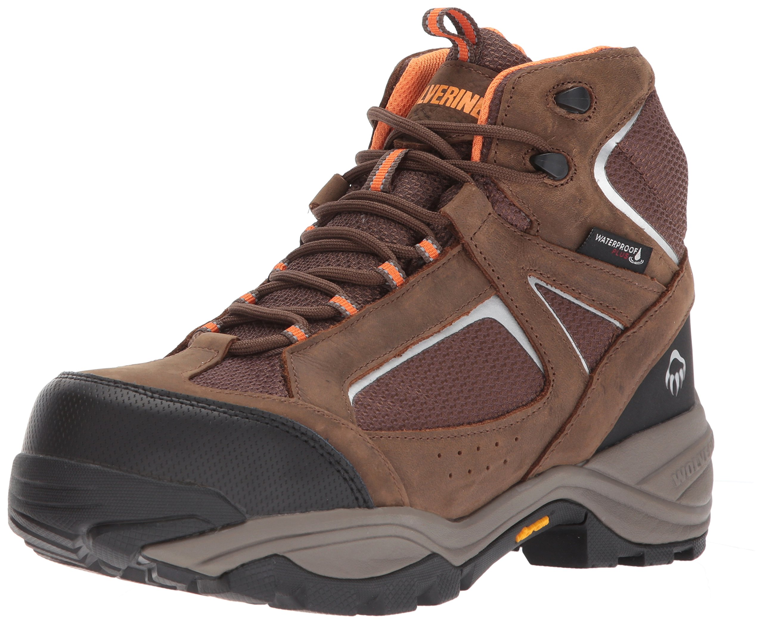 Wolverine Men's Quest Puncture Resistant WPF Composite Toe Work Boot, Brown, 7 W US