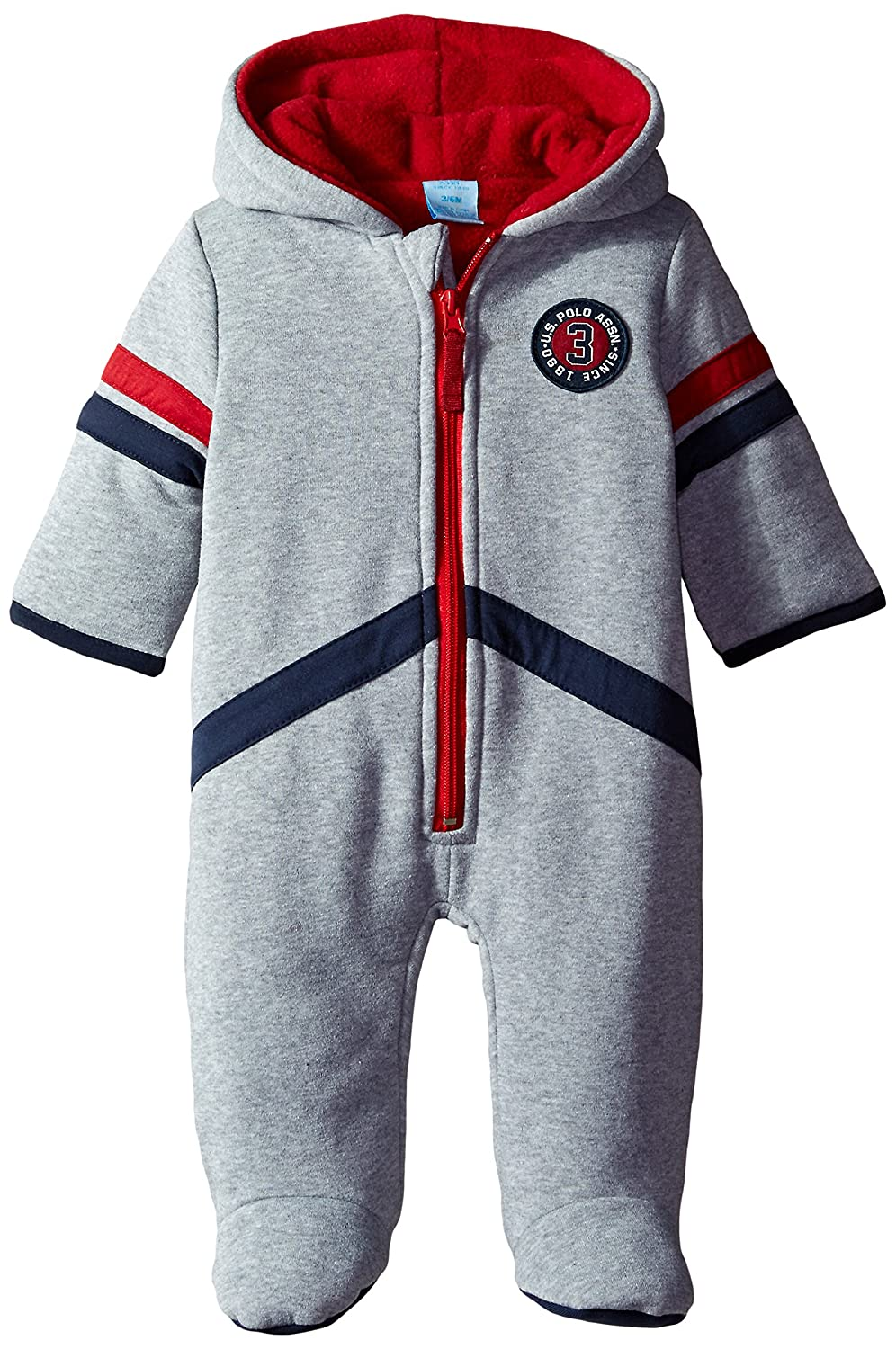U.S. Polo Assn. Baby Boys' Faux Fur Fleece Pram US Polo Baby Outerwear ONU780AM