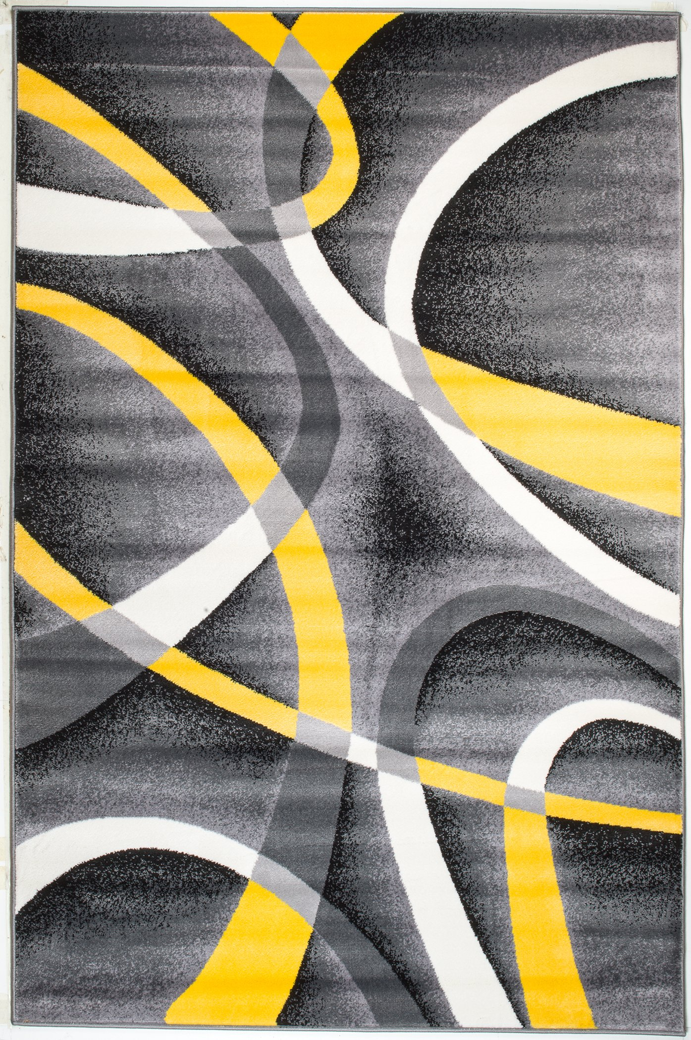 Summit UQ-ABE2-JR2X 21 New Yellow Grey Area Rug Modern Abstract Many Sizes Available , DOOR MAT 22 inch x 35 inch