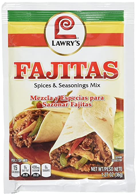 Amazon.com : Lawrys Fajitas Spices & Seasonings, 1.27 oz (Pack of 12) : Grocery & Gourmet Food