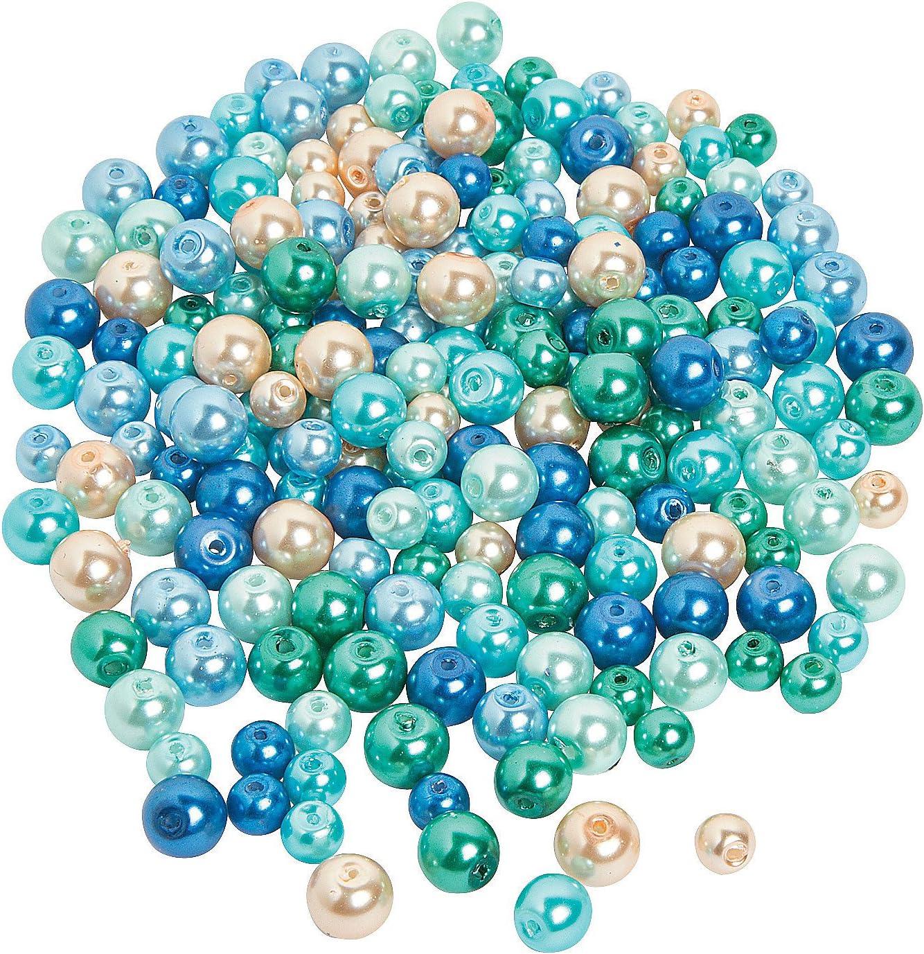 rubyca Mix perlas de imitaci/ón cuentas de cristal Murano pulsera Europea espaciador DIY de Color plata