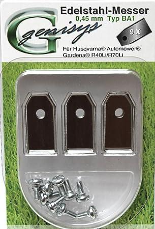 Ersatzmesser mit Schrauben f/ür Husqvarna Automower /® NEU von IVE 9 Stk