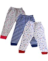 NammaBaby Ribbed Hem Pajama MIXED PRINTS - SET OF 3