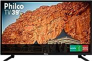 TV LED 39'' Philco PTV39N87D HD com Conversor Digital 3 HDMI 1 USB Som Surround 60Hz - Preta