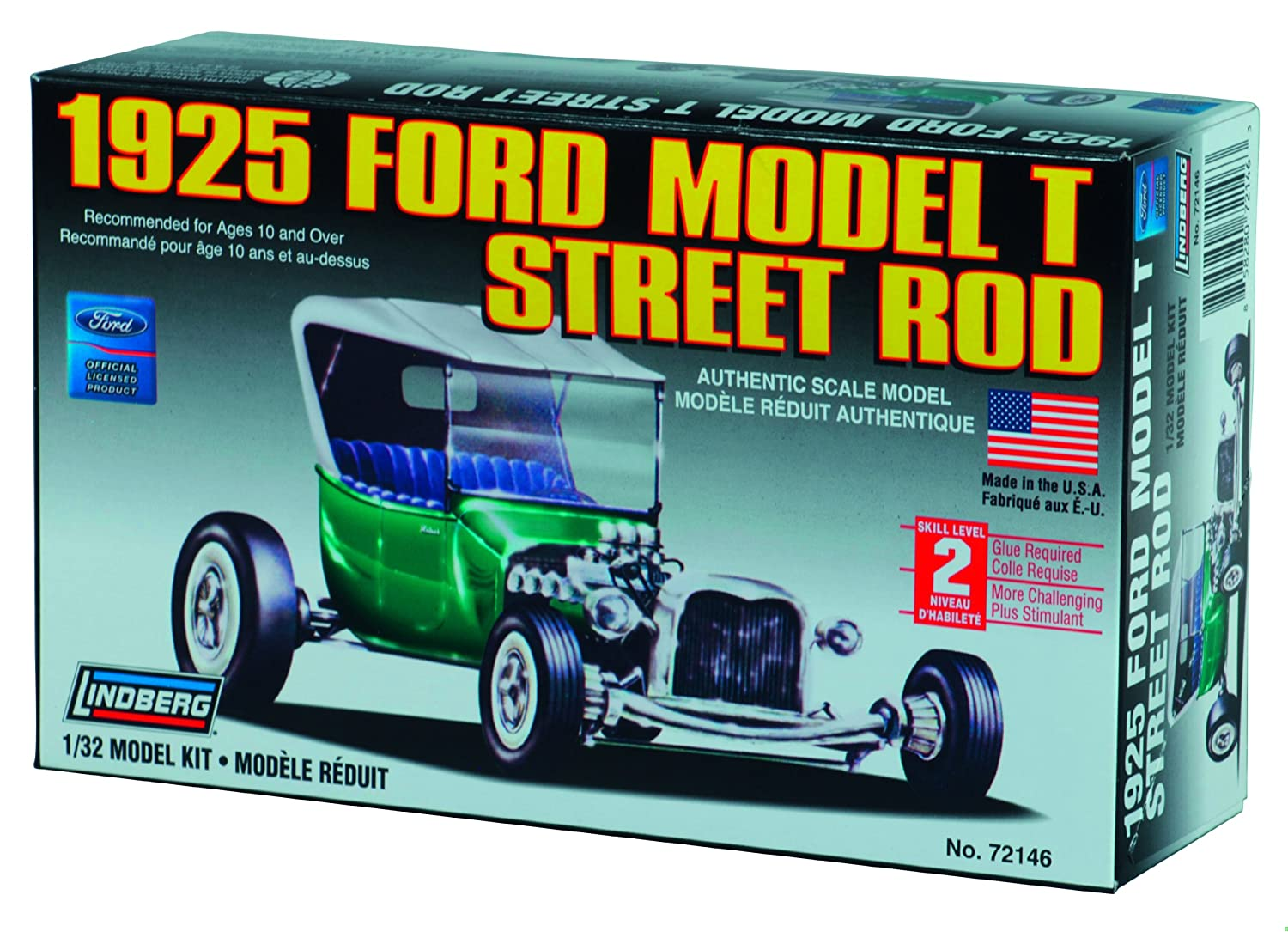 Amazon.com: Lindberg 1:32 scale 1925 Ford T Street Rod: Toys & Games