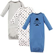Hudson Baby Cotton Gowns, Perfect Gentleman, 0-6 Months