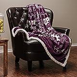 "Chanasya Super Soft Ultra Plush Powerful Hope and Faith inspirational Messages Posivite Energy Comfort Caring Uplifting Gift Teal Blue Microfiber Throw Blanket ( 50"" x 65"" ) (50"" x 65"", Dark Purple)"