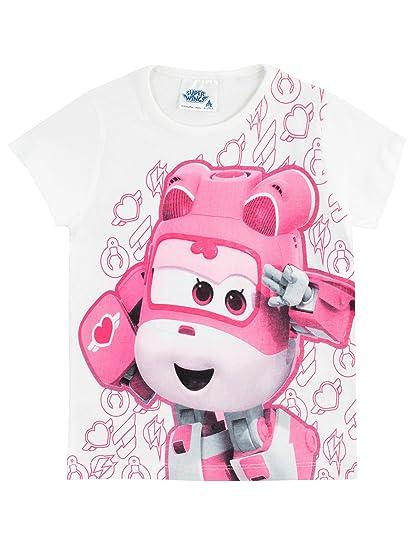 Amazon.com  Super Wings Girls  Dizzy T-Shirt White  Clothing 15eba3dec
