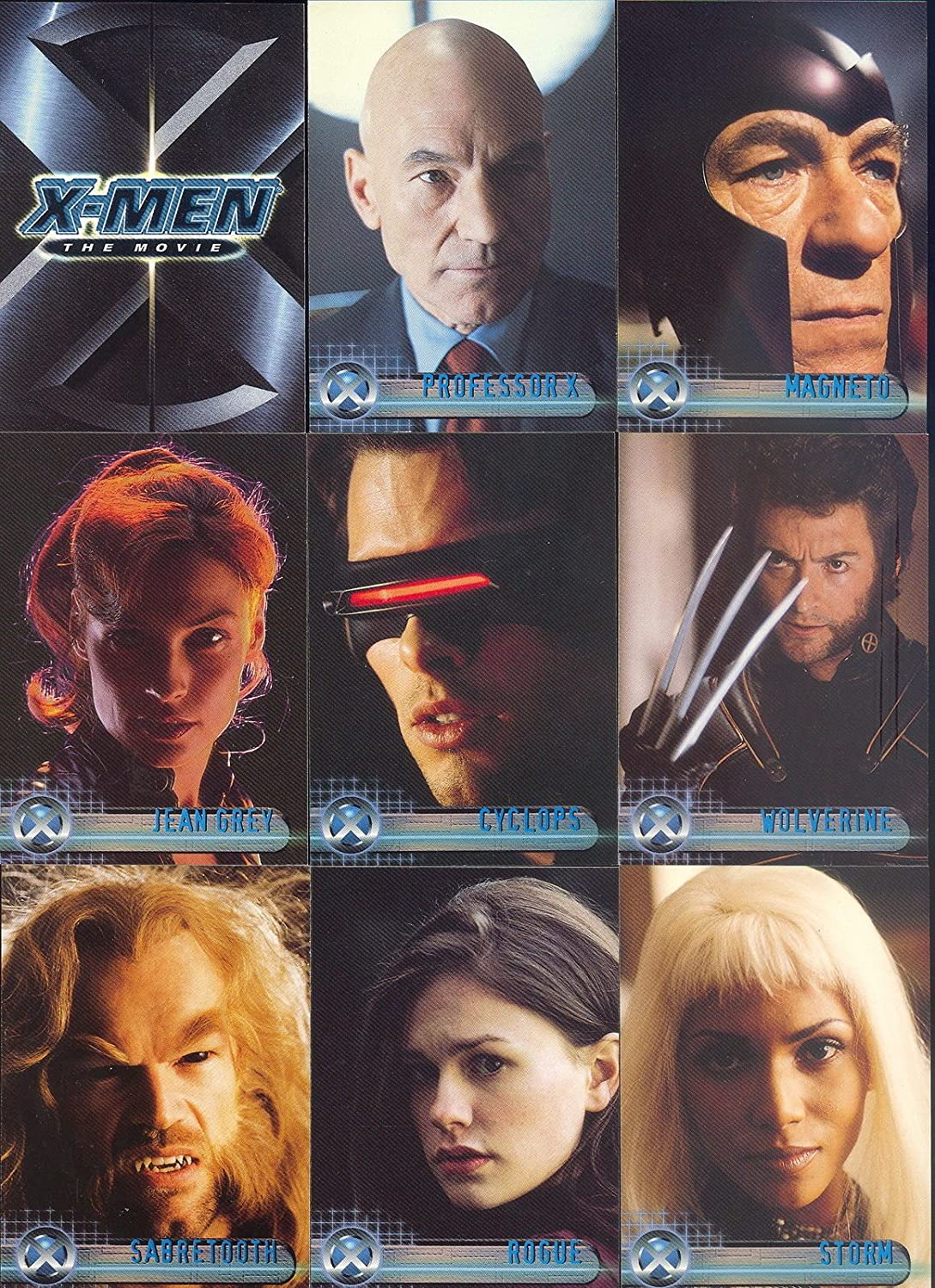 X-MEN THE MOVIE 1 2000 TOPPS COMPLETE BASE CARD SET OF 72 MARVEL COMICS