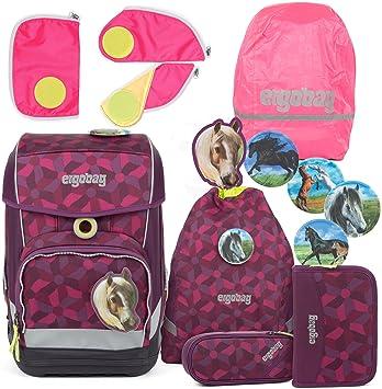pink pink Ergobag Pack//Cubo// Cubo Light Sicherheitsset 3tlg.