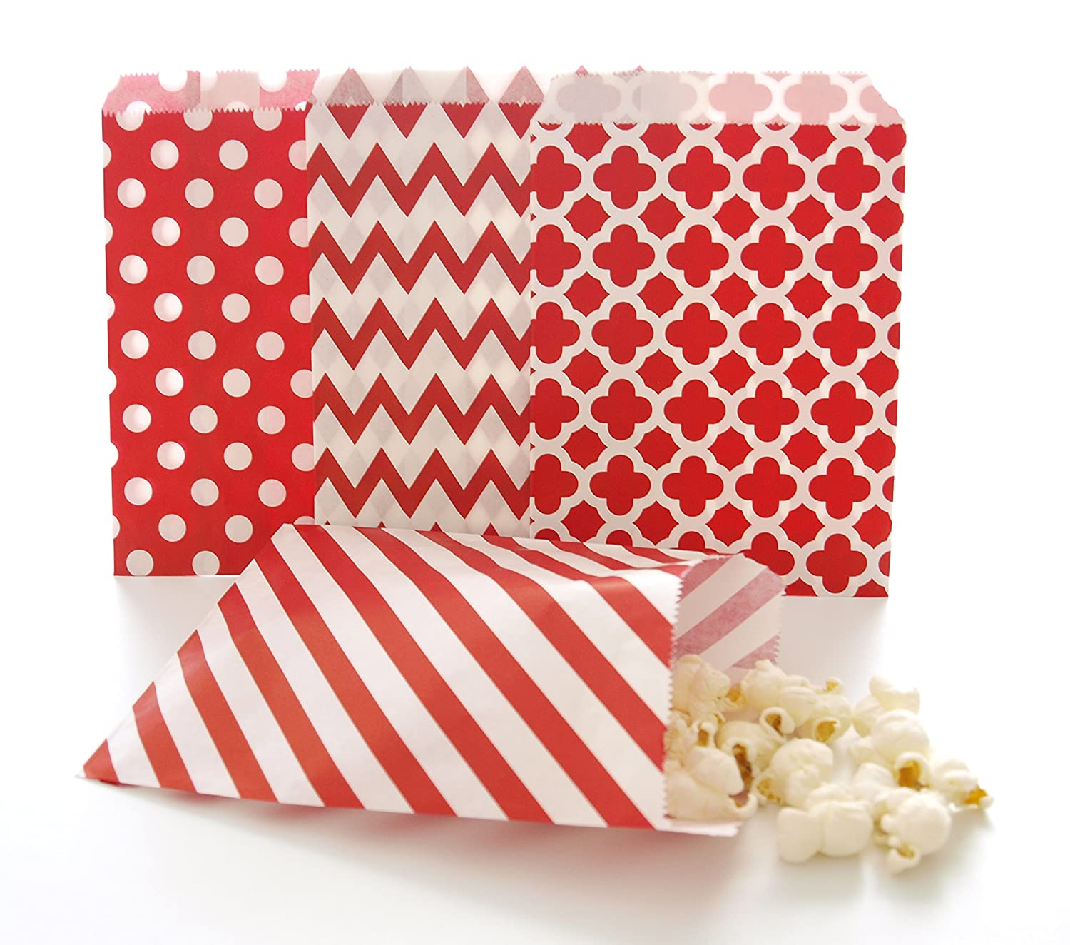 Amazon.com: Red Wedding Favor Bags / Bulk Goodie Bags for Candy ...
